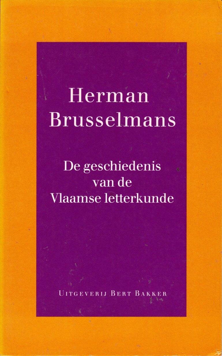 Boekomslag van De Geschiedenis van de Vlaamse Letterkunde